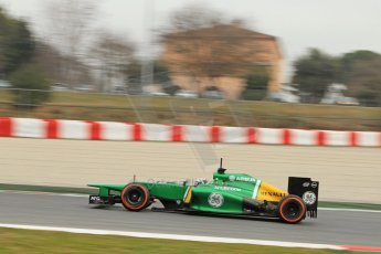 World © Octane Photographic Ltd. Formula 1 Winter testing, Barcelona – Circuit de Catalunya, 21st February 2013. Caterham CT03, Giedo van de Garde.. Digital Ref: 0578cb7d9038