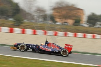 World © Octane Photographic Ltd. Formula 1 Winter testing, Barcelona – Circuit de Catalunya, 21st February 2013. Toro Rosso STR8, Jean-Eric Vergne. Digital Ref: 0578cb7d9047