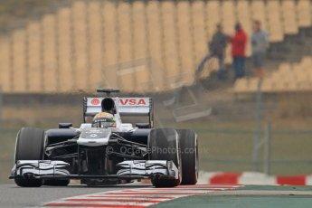 World © Octane Photographic Ltd. Formula 1 Winter testing, Barcelona – Circuit de Catalunya, 21st February 2013, morning sessions. Williams FW35, Pastor Maldonado. Digital Ref: 0578cb7d9080