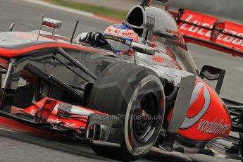 World © Octane Photographic Ltd. Formula 1 Winter testing, Barcelona – Circuit de Catalunya, 21st February 2013. Vodafone McLaren Mercedes MP4/28, Jenson Button. Digital Ref: 0578cb7d9146