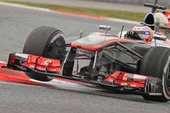 World © Octane Photographic Ltd. Formula 1 Winter testing, Barcelona – Circuit de Catalunya, 21st February 2013. Vodafone McLaren Mercedes MP4/28, Jenson Button. Digital Ref: 0578cb7d9174