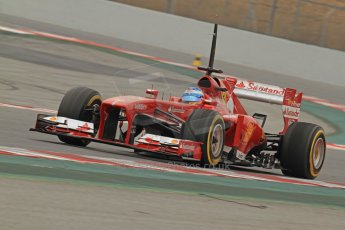 World © Octane Photographic Ltd. Formula 1 Winter testing, Barcelona – Circuit de Catalunya, 21st February 2013. Ferrari F138 - Fernando Alonso. Digital Ref: 0578cb7d9262