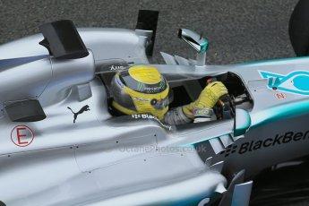 World © Octane Photographic Ltd. Formula 1 Winter testing, Barcelona – Circuit de Catalunya, 21st February 2013. Mercedes AMG Petronas F1 W04, Nico Rosberg. Digital Ref: 0578lw1d2814
