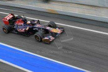 World © Octane Photographic Ltd. Formula 1 Winter testing, Barcelona – Circuit de Catalunya, 21st February 2013. Toro Rosso STR8, Jean-Eric Vergne. Digital Ref: 0578lw1d2827