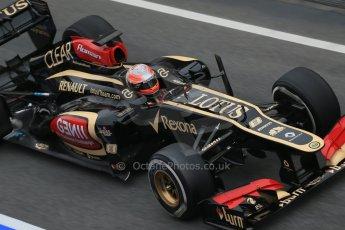 World © Octane Photographic Ltd. Formula 1 Winter testing, Barcelona – Circuit de Catalunya, 21st February 2013. Lotus E31, Romain Grosjean. Digital Ref: 0578lw1d2923