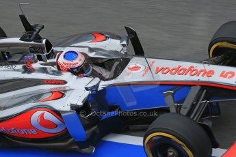 World © Octane Photographic Ltd. Formula 1 Winter testing, Barcelona – Circuit de Catalunya, 21st February 2013. Vodafone McLaren Mercedes MP4/28, Jenson Button. Digital Ref: 0578lw1d2986