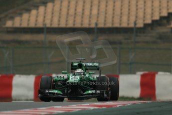 World © Octane Photographic Ltd. Formula 1 Winter testing, Barcelona – Circuit de Catalunya, 21st February 2013. Caterham CT03, Giedo van de Garde. Digital Ref: 0578lw1d3664