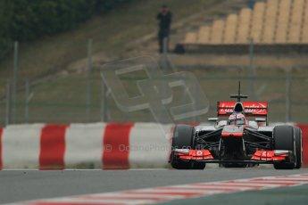 World © Octane Photographic Ltd. Formula 1 Winter testing, Barcelona – Circuit de Catalunya, 21st February 2013. Vodafone McLaren Mercedes MP4/28, Jenson Button. Digital Ref: 0578lw1d3845