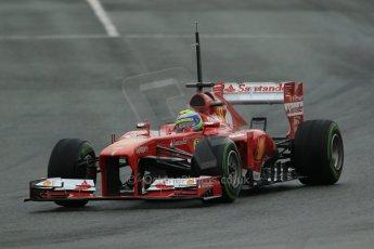 World © Octane Photographic Ltd. Formula 1 Winter testing, Barcelona – Circuit de Catalunya, 22nd February 2013. Ferrari F138 – Felipe Massa. Digital Ref: 0579cb1d4431