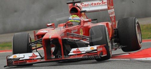 World © Octane Photographic Ltd. Formula 1 Winter testing, Barcelona – Circuit de Catalunya, 22nd February 2013. Ferrari F138 – Felipe Massa. Digital Ref: 0579cb7d9416