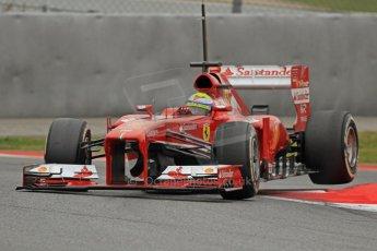 World © Octane Photographic Ltd. Formula 1 Winter testing, Barcelona – Circuit de Catalunya, 22nd February 2013. Ferrari F138 – Felipe Massa. Digital Ref: 0579cb7d9507