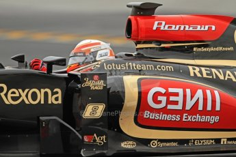 World © Octane Photographic Ltd. Formula 1 Winter testing, Barcelona – Circuit de Catalunya, 22nd February 2013. Lotus E31, Romain Grosjean. Digital Ref: 0579cb7d9598