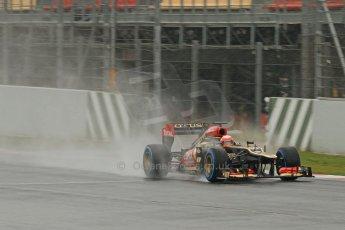 World © Octane Photographic Ltd. Formula 1 Winter testing, Barcelona – Circuit de Catalunya, 22nd February 2013. Lotus E31, Romain Grosjean. Digital Ref: 0579cb7d9718