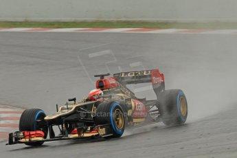 World © Octane Photographic Ltd. Formula 1 Winter testing, Barcelona – Circuit de Catalunya, 22nd February 2013. Lotus E31, Romain Grosjean. Digital Ref: 0579cb7d9727