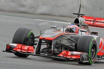 World © Octane Photographic Ltd. Formula 1 Winter testing, Barcelona – Circuit de Catalunya, 22nd February 2013. Vodafone McLaren Mercedes MP4/28. Jenson Button. Digital Ref: 0579cb7d9922