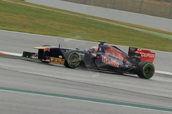 World © Octane Photographic Ltd. Formula 1 Winter testing, Barcelona – Circuit de Catalunya, 22nd February 2013. Toro Rosso STR8, Jean-Eric Vergne. Digital Ref: 0579cb7d9982