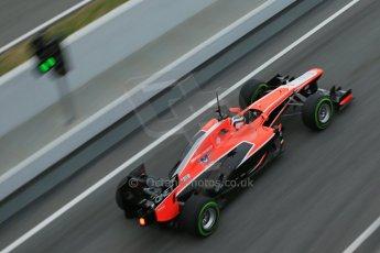 World © Octane Photographic Ltd. Formula 1 Winter testing, Barcelona – Circuit de Catalunya, 22nd February 2013. Marussia MR02, Max Chilton. Digital Ref: 0579lw1d4025