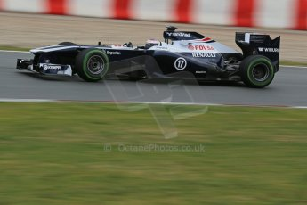 World © Octane Photographic Ltd. Formula 1 Winter testing, Barcelona – Circuit de Catalunya, 22nd February 2013, morning sessions. Williams FW35, Valterri Bottas. Digital Ref: 0579lw1d4582
