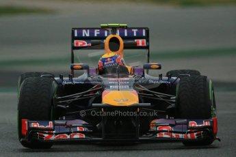 World © Octane Photographic Ltd. Formula 1 Winter testing, Barcelona – Circuit de Catalunya, 22nd February 2013. Infiniti Red Bull Racing RB9, Mark Webber. Digital Ref: 0579lw1d4682