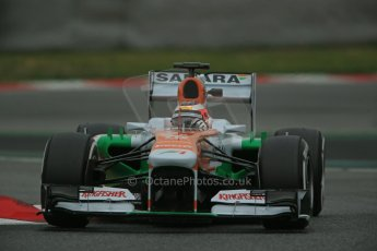 World © Octane Photographic Ltd. Formula 1 Winter testing, Barcelona – Circuit de Catalunya, 22nd February 2013,. Sahara Force India VJM06 – Jules Bianchi. Digital Ref: 0579lw1d4889
