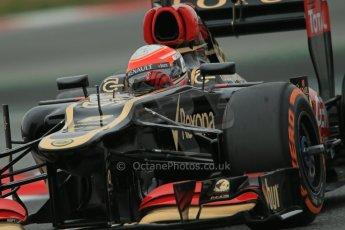 World © Octane Photographic Ltd. Formula 1 Winter testing, Barcelona – Circuit de Catalunya, 22nd February 2013. Lotus E31, Romain Grosjean. Digital Ref: 0579lw1d4909