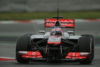 World © Octane Photographic Ltd. Formula 1 Winter testing, Barcelona – Circuit de Catalunya, 22nd February 2013. Vodafone McLaren Mercedes MP4/28. Jenson Button. Digital Ref: 0579lw1d4990