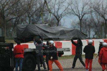 World © Octane Photographic Ltd. Formula 1 Winter testing, Barcelona – Circuit de Catalunya, 22nd February 2013. Sauber C32, Esteban Gutierrez. Digital Ref: 0579lw1d5335