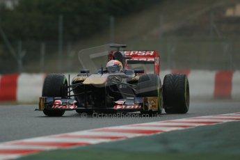 World © Octane Photographic Ltd. Formula 1 Winter testing, Barcelona – Circuit de Catalunya, 22nd February 2013. Toro Rosso STR8, Jean-Eric Vergne. Digital Ref: 0579lw1d5410