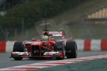 World © Octane Photographic Ltd. Formula 1 Winter testing, Barcelona – Circuit de Catalunya, 22nd February 2013. Ferrari F138 – Felipe Massa. Digital Ref: 0579lw1d5478