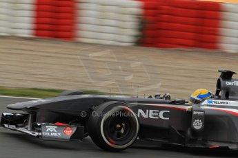 World © Octane Photographic Ltd. Formula 1 Winter testing, Barcelona – Circuit de Catalunya, 22nd February 2013. Sauber C32, Esteban Gutierrez. Digital Ref: 0579lw7d9395