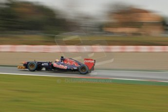 World © Octane Photographic Ltd. Formula 1 Winter testing, Barcelona – Circuit de Catalunya, 22nd February 2013. Toro Rosso STR8, Jean-Eric Vergne. Digital Ref: 0579lw7d9797