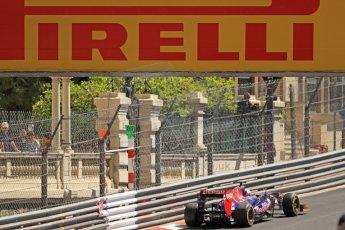 World © Octane Photographic Ltd. F1 Monaco GP, Monte Carlo - Saturday 25th May - Practice 3. Scuderia Toro Rosso STR8 - Jean-Eric Vergne. Digital Ref : 0707cb7d2266
