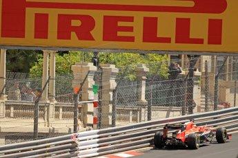 World © Octane Photographic Ltd. F1 Monaco GP, Monte Carlo - Saturday 25th May - Practice 3. Marussia F1 Team MR02 - Jules Bianchi. Digital Ref : 0707cb7d2312