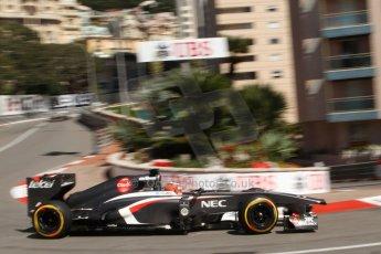 World © Octane Photographic Ltd. F1 Monaco GP, Monte Carlo - Saturday 25th May - Practice 3. Sauber C32 - Nico Hulkenberg. Digital Ref : 0707lw7d8219
