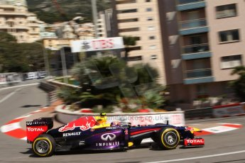 World © Octane Photographic Ltd. F1 Monaco GP, Monte Carlo - Saturday 25th May - Practice 3. Infiniti Red Bull Racing RB9 - Mark Webber. Digital Ref : 0707lw7d8358