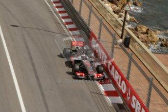 World © Octane Photographic Ltd. F1 Monaco GP, Monte Carlo - Saturday 25th May - Practice 3. Vodafone McLaren Mercedes MP4/28 - Jenson Button. Digital Ref : 0707lw7d8433