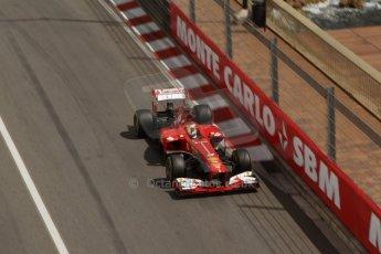 World © Octane Photographic Ltd. F1 Monaco GP, Monte Carlo - Saturday 25th May - Practice 3. Scuderia Ferrari F138 - Fernando Alonso. Digital Ref : 0707lw7d8447