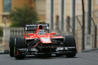 World © Octane Photographic Ltd. F1 Monaco GP, Monte Carlo - Saturday 25th May - Qualifying. Marussia F1 Team MR02 - Max Chilton. Digital Ref : 0708lw1d9692