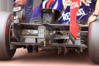 World © Octane Photographic Ltd. Monaco F1 Post Qualifying pitlane - Monte Carlo. Infiniti Red Bull Racing RB9 diffuser. Digital Ref : 0708lw7d2696