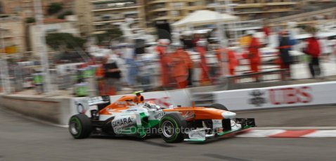 World © Octane Photographic Ltd. F1 Monaco GP, Monte Carlo - Saturday 25th May - Qualifying. Sahara Force India VJM06 - Adrian Sutil. Digital Ref : 0708lw7d8767