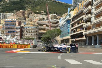 World © 2013 Octane Photographic Ltd. F1 Monaco GP, Monte Carlo -Thursday 23rd May 2013 - Practice 1. Williams FW35 - Valtteri Bottas. Digital Ref : 0692lw1d6978