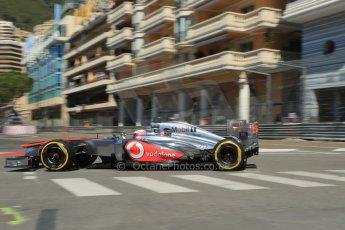 World © 2013 Octane Photographic Ltd. F1 Monaco GP, Monte Carlo - Thursday 23rd May 2013 - Practice 1. Vodafone McLaren Mercedes MP4/28 - Jenson Button. Digital Ref : 0692lw1d7024
