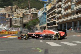 World © 2013 Octane Photographic Ltd. F1 Monaco GP, Monte Carlo -Thursday 23rd May 2013 - Practice 1. Marussia - Max Chilton. Digital Ref : 0692lw1d7046