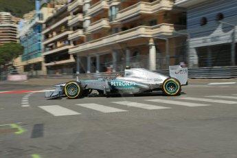 World © 2013 Octane Photographic Ltd. F1 Monaco GP, Monte Carlo -Thursday 23rd May 2013 - Practice 1. Mercedes AMG Petronas F1 W04 – Lewis Hamilton. Digital Ref : 0692lw1d7075