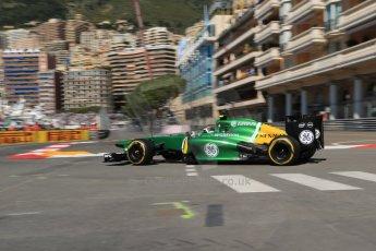 World © 2013 Octane Photographic Ltd. F1 Monaco GP, Monte Carlo -Thursday 23rd May 2013 - Practice 1. Caterham F1 Team CT03 - Giedo van der Garde. Digital Ref : 0692lw1d7082