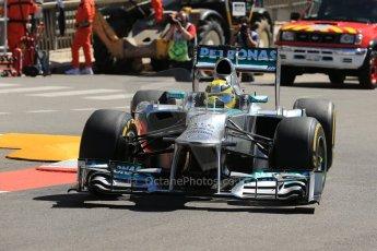 World © 2013 Octane Photographic Ltd. F1 Monaco GP, Monte Carlo -Thursday 23rd May 2013 - Practice 1. Mercedes AMG Petronas F1 W04 - Nico Rosberg. Digital Ref : 0692lw1d7199