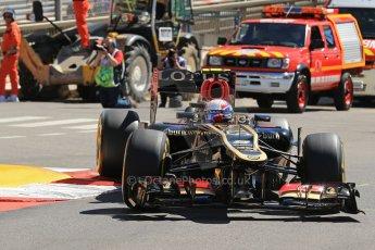 World © 2013 Octane Photographic Ltd. F1 Monaco GP, Monte Carlo -Thursday 23rd May 2013 - Practice 1. Lotus F1 Team - E21- Romain Grosjean. Digital Ref : 0692lw1d7216
