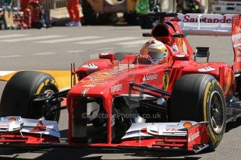World © 2013 Octane Photographic Ltd. F1 Monaco GP, Monte Carlo -Thursday 23rd May 2013 - Practice 1. Scuderia Ferrari F138 - Fernando Alonso. Digital Ref : 0692lw1d7243