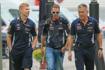 World © Octane Photographic Ltd. F1 Spanish GP - Friday 10th May 2013 paddock. Sebastian Vettel - Infinti Red Bull Racing. Digital Ref : 0658cb1d8715