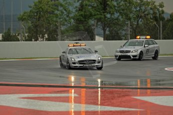 World © Octane Photographic Ltd. F1 Spanish GP, Circuit de Catalunya, Friday 10th May 2013. Practice 1. Mercedes FIA F1 Safety and Medical cars on the course inspection. Digital Ref : 0659cb1d0004